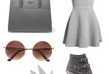 My Polyvore Finds / Grey fashiom