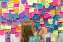 Dreams Need Doing / Girls were asked if they could CREATE or BE anything in the world what would that be? They used Post-It notes to put their dreams on a Dreams Need Doing wall.
