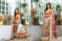 Corporate Glam Organic Linen Digital Print Sarees Collections