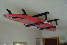 Sup board ophangen