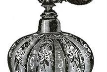 Butelki na perfumy vintage