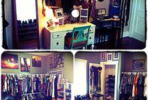Walk in closets, home storage ideas.