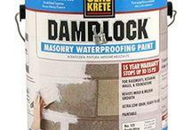 Waterproofing Paint / SEAL-KRETE has a variety of #waterproofing paints for vertical surfaces.