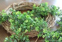 Spring - Mantle/Wreaths