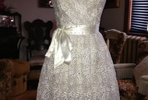 Bridal Apron / 50's inspired apron made out of second lace.