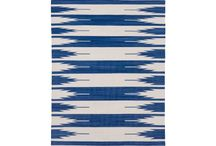 Blue & white area rugs