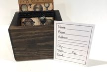 Address File Boxes From Our Etsy Shop