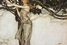 Arthur Rackham - The Rhinegold and the Valkyrie - 1910
