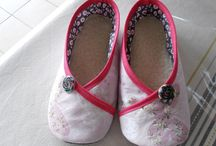 chaussons femme tissu