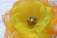Fabric Flowers - Organza Flowers - Květy z organzy /  - my handmade