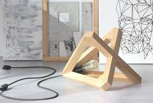 wooden lamp floor