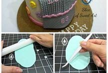Knitting cake theme