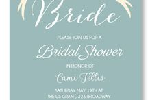 BRIDAL SHOWER & BACHELORETTE INVITATIONS / A variety of Cute and elegant bridal shower invitations. Customize the colors, fonts and content to reflect your bridal shower.