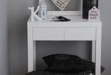console table / wooden console table
