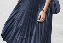 How to style: navy pleated dress