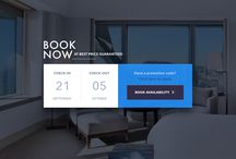 UX / UI / travel /  Web design inspiration board with focus on travel and hotel pages