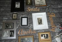 Photo Wall / Here is what I did with some of the walls in my house