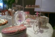 candy bar pink love theme / white and pink sweets and decorations