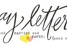 calligraphy & typography / by Kristen Shuel