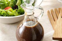 Salad Dressings / Homemade salad dressings for healthy eating.