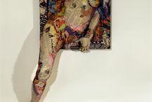 Will Kurtz - sculptures made from newspapers