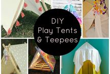 DIY tepees, tents and dens / Make your own tents, wendy houses, dens and tepees for kids. So many fab ideas I wonder why I ever bought one!