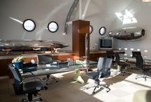 Aviation Themed Offices by SkyArt / SkyArt designs and manufactures unique furniture using genuine parts from old aircraft, such as wing flaps, landing gears, fuselage parts, various engine parts