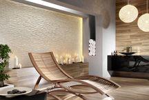 Ściana udekorowana / Decorative panels / Realizacje wykonane z wykorzystaniem produktów firmy Incana S.A. Naturalne wnętrza, które inspirują...
