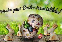CLABIT Easter Eggs and Bunnies / Decorative eggs for Easter. Italian handmade products.  Uova decorative per Pasqua. Prodotti artigianali italiani.