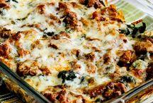 Sausage kale mock lasagna