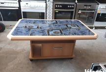 Asztal nappaliba-Szép kék 15e