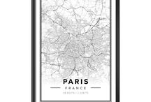 City Posters / Customizable map-posters of your favourite places available at Mapiful.com