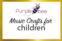 Music crafts for children / Fun activities, crafts, art, painting and hands on activities to teach kids about the wonderful world of music