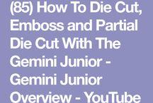 Gemini die cutting machine, How to!