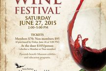2015 Santa Barbara Wine Festival™ #28! / 28th Annual Santa Barbara Wine Festival™ 2015 Nature lovers, winemakers, bakers, chefs, guests on the banks of Mission Creek. *June 27, 2015 2-5PM* Proceeds benefit Museum exhibits and education programs.