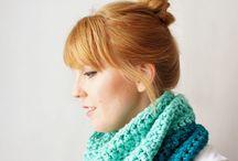 Вязание - шарфы, снуды