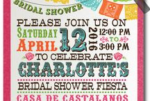 Fiesta Papel Picado Day of the Dead Bridal Shower Invitations!