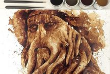 Creative Coffee Paintings / Maria A. Aristidou uses everyone's favorite morning drink to re-imagine her favorite characters from pop culture.