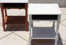 reciclando móveis / pintando móveis