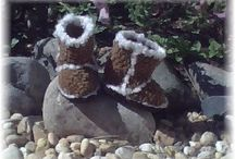 Crochet slippers and booties