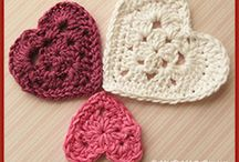 Knitted or crocheted hearts