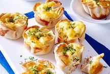 Toastmuffins mit Käse Schinken- Füllung
