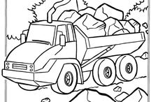 coloring pages 36 (car, train, etc)