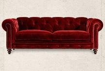 Philda maroon Chesterfield couch decor ideas