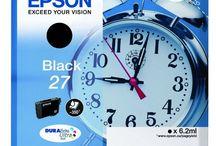 Tinta Epson / Cartuchos de tinta originales y reciclados, compatibles con impresoras de inyección de tinta de la marca EPSON