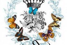 бабочки винтаж
