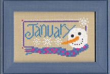 CS&N (Calendar Months) / Block of the month stitchery / by ymknight