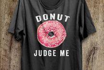 Foodie Fashion / Food clothing! Fun food prints like pizza shirts or donut socks to vegan leather bags.