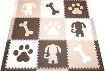 SoftTiles 9 Piece Foam Play Mat Sets / SoftTiles 9 Piece Interlocking Foam Play Mats with sloped borders. Each play mat measures 6.5' x 6.5'. Available in many color combinations from bright to pastels.