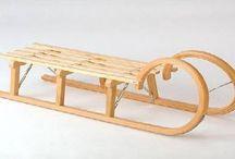 sanie lemn